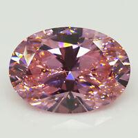 Pigeon Blood Red Ruby Pink Unheated Diamond Oval Cut AAAA+ Grade Loose Gemstones