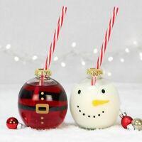 Santa's Milk 'Bottle' Baubles, Father Christmas/Snowman Glasses, Xmas Eve Set