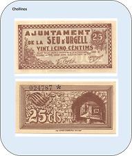25 CENTIMOS  AJUNTAMENT DE LA SEU DE URGELL     ( MB10870 )