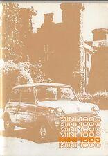 Mini 1000 Original Drivers Handbook Canadian 1976 No. AKM 3537
