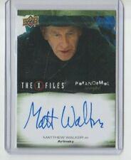 X-Files Ufos & Alien Edition Paranormal Autograph Trading Card Matthew Walker A