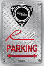 Metal Parking Sign  Rotary Mazda Style R100#12 - Checkerplate Look