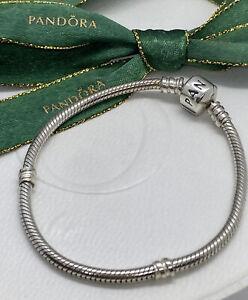 Genuine Pandora 17.5cm Classic Sterling Silver Charm Bracelet 925 ALE 590702HV