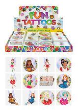 12x Mini Fairy Temporary Tattoos Boys Girls Party Bag & Stocking Fillers UK B2G1