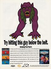 Original 1992 Nintendo NES POWER PUNCH 2 alien boxing video game print ad page