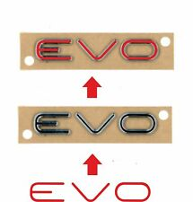 Fiat Punto Evo rear Badge vinyl overlay Decal Sticker x2 any colour