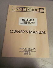 Land Pride 35 Series Landscape Rake Owner's Owners Manual 42980 1991