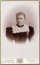 CDV photo Damenportrait - Annaberg um 1900