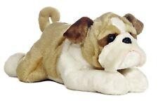 "Aurora World Flopsie 12"" Stuffed Bulldog Willis , New, Free Shipping"