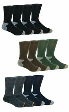 Weatherproof Men's Wool Blend Premium Outdoor Crew Socks Pack of 4 mix Color