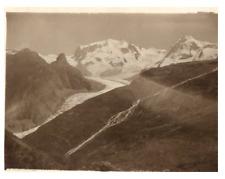 Suisse, Riffelhorn, Mont Rose Vintage silver print. Switzerland  Tirage argent