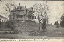 Gorham ME Normal School Principal Residence c1950 Postcard