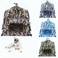 Pet Tent Portable Folded Bed Indoor Outdoor House Dog Camouflage Puppy Teepee