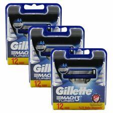 36 Gillette Mach3 Turbo Rasierklingen 3 x 12 Stück Klingen in OVP