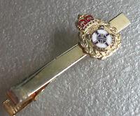 Tie Clasp Clip MENS Vintage Retro Accessory 1970s 1980s CROWN