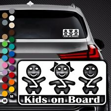 A88# Aufkleber Baby on Board Kind an Bord Tour Kinder Kids in Auto Buggy Sticker