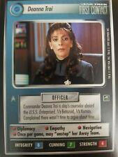 Star Trek CCG First Contact Deanna Troi NrMint-Mint