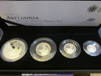 Royal Mint 2012 Silver Proof Britannia 4 coin set £2 £1 50p and 20p boxed/coa cC