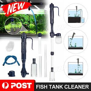 NEW Aquarium Fish Tank Cleaner Pump Siphon Cleaning Tools Water Sand Gravel Kit