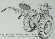 Sears Roebuck David Bradley Super Power Owner's Manual 3/55 Walking Tractor