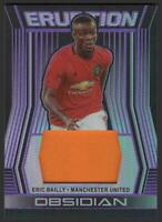 2019-20 Panini Obsidian Eruption PURPLE Eric Bailly /75 JERSEY Manchester United