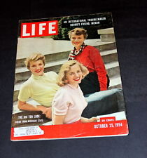 LIFE MAGAZINE OCTOBER 25TH 1954 BIG TEN COEDS FROM MICHIGAN STATE/ TED WILLIAMS