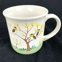 Vintage Otagiri Owl Cup Family Entries Pottery Mug Japan