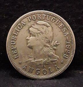 1928 Portuguese Angola (Colony) 50 centavos, KM-69 (AN9)