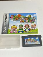 Super Mario Advance Nintendo GameBoy Advance GBA Game Tested AUTHENTIC w/Manual