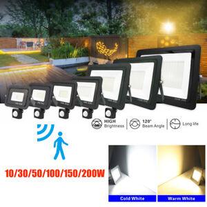 LED Fluter Strahler mit Bewegungsmelder SMD Außen IP66 Scheinwerfer Flutlicht DE