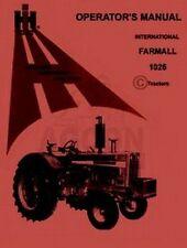 INTERNATIONAL FARMALL 1026 Tractor Operators Manual IH
