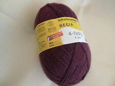 100g Regia uni - Fb. 2747 burgund  4-fädig -Sockenwolle Schachenmayr Wolle/Polya