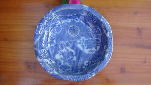 ANTIQUE JAPANESE PORCELAIN BOWL 19th C. BLUE & WHITE EDO ERA