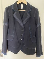 *HIGH USE/GIRBAUD*Blazer*GR.38 Blau Wolle Cashmere Jacke Claire Campbell