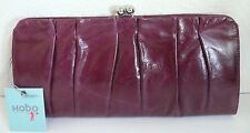 Hobo International Allison Clutch Bordeaux Leather Card Slots NWT