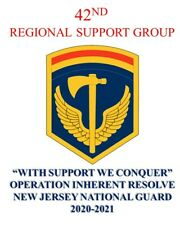 """42ND REGIONAL SUPPORT GROUP """"WITH SUPPORT,WE CONQUER""""NJ GUARD SHIRT/ SWEATSHIRT"""