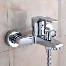 Bath Filler Tidy Shower Tap Wall Mount Mixer Brass Chrome Sink Basin Bathroom