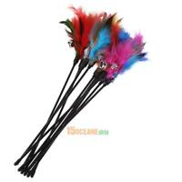 5Pcs Cat Toys Colorful Cat Feather Bell Rod Kitten Funny Playing Interactive Toy