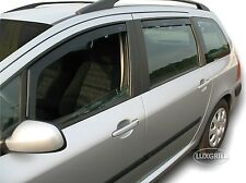 DPE26125  Wind Deflectors PEUGEOT 307 SW ESTATE  2001-2008 4 pcs HEKO Tinted