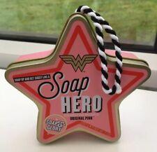 NEW Soap & Glory Wonder Woman Original Pink Soap Hero in Star Tin 200g