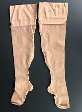 True Vintage Stockings Nylon Heel Seamed Gently Used Hosiery Nude Pantyhose VTG