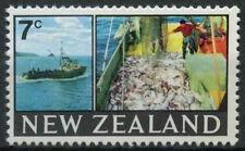 New Zealand 1967-70 SG#870, 7c Definitive Trawler And Fish MNH #D9431