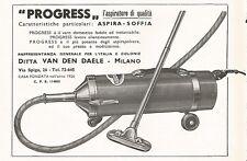 W1460 Aspirapolvere PROGRESS - Pubblicità del 1937 - Old advertising