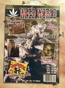 WEED WORLD ISSUE 54. MAGAZINE cannabis marijuana