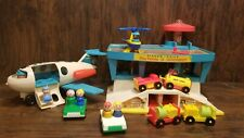 Fisher Price Play Family Airport 996 Vintage Complete Set 1972 - 1976