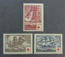 nystamps Finland Stamp # B24-B26 Mint OG NH $54