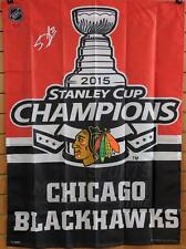 Scott Darling Chicago Blackhawks Signed Autographed 2015 Stanley Cup Champs Flag