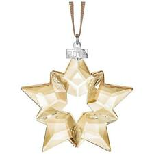 New ListingSwarovski Crystal Scs 2019 Gold Ornament 5429596.New In Box