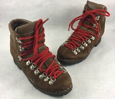 Vtg Stellina Brown Leather Camping Hiking Boots Womens Size 7 Made in Italy