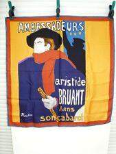 LAUTREC -TOULOUSE Henri de (1864-1901) CABARET D'ARISTIDE BRUAND - FOULARD SOIE